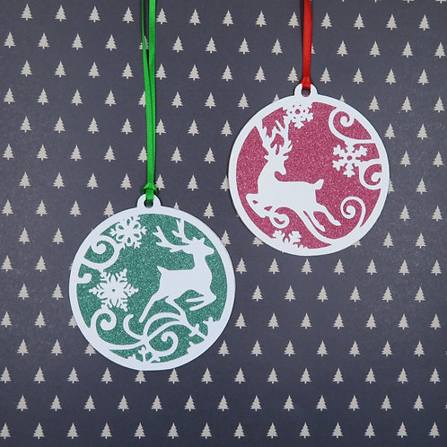Deer Silhouette Pack of 2 Gift Tags