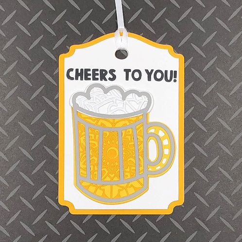 Cheers To You! Mandala-Style Gift Tag