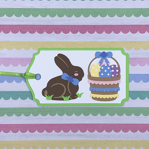 Easter Treats Chocolate Bunny and Basket Gift Tag