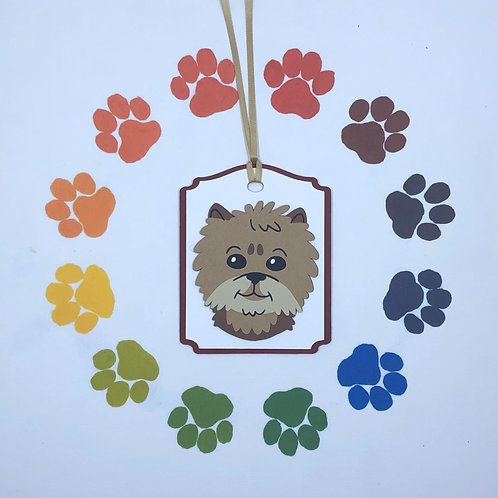 Yorkshire Terrier Yorkie Face Gift Tag