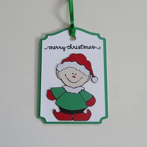 Merry Christmas Elf Gift Tag