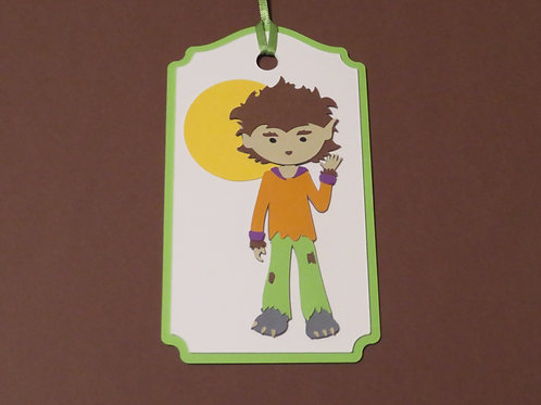 Wolfman Wolfboy Halloween Gift Tag