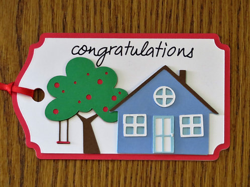 New Home Congratulations Gift Tag