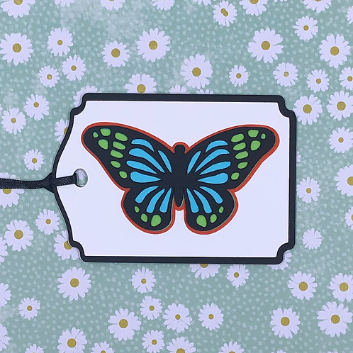 Stained Glass-Look Butterfly Gift Tag