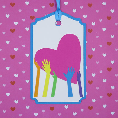 Love Is For Everyone Rainbow Pride Gift Tag