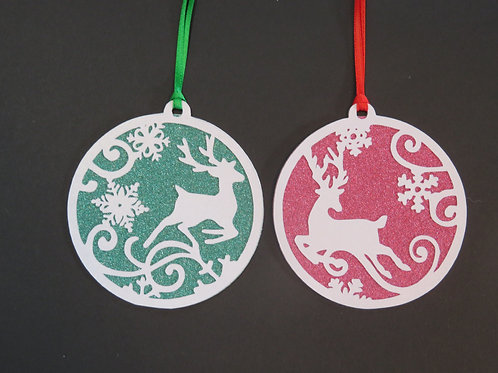 Deer Silhouette Pack of 2 Gift Tags