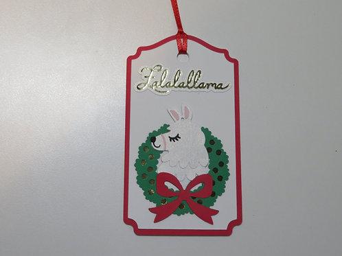 Falalallama Llama Christmas Gift Tag