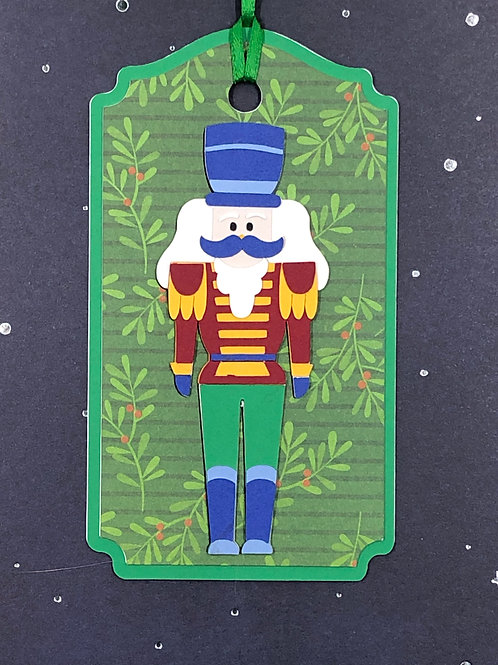 Nutcracker Tin Soldier Gift Tag