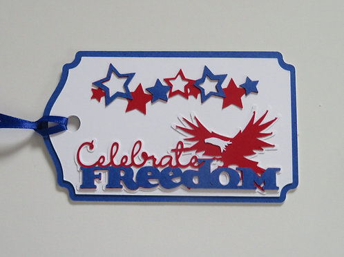 Celebrate Freedom Patriotic Gift Tag
