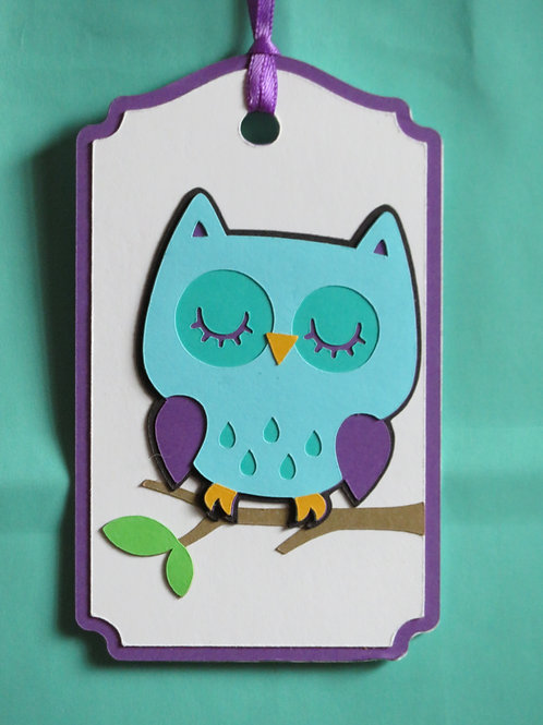 Sleeping Owl Gift Tag
