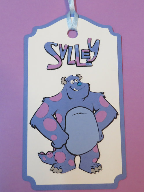 Sulley from Disney's Monsters Inc Gift Tag
