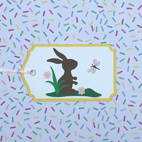 Chocolate Brown Bunny Silhouette Gift Tag