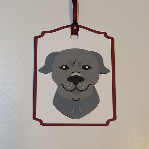 American Staffordshire Terrier Face Gift Tag