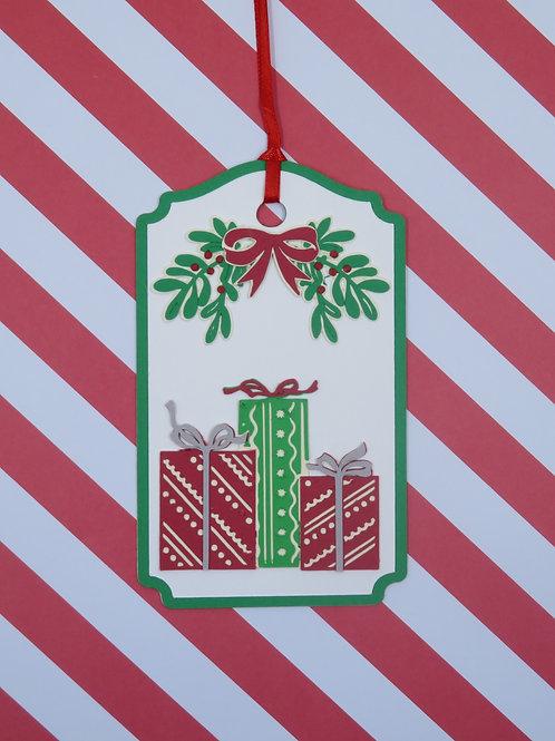 Presents Under the Mistletoe Gift Tag