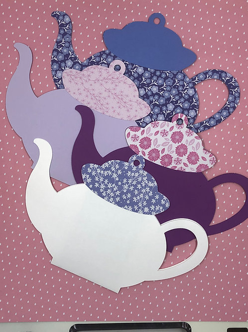 Large Teapot Gift Card Holder