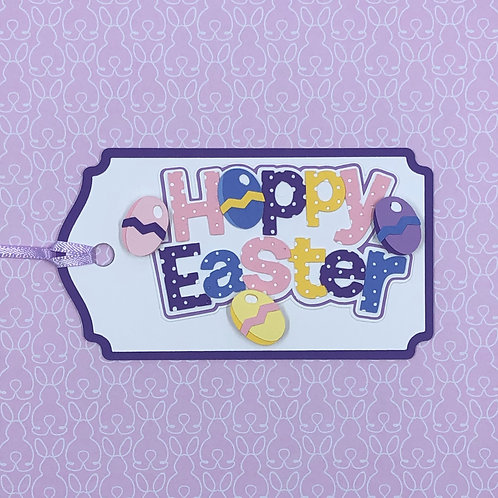 Polka Dot Happy Easter Gift Tag