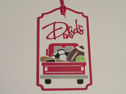 Red Truck Series Dad's Day Sports Gift Tag