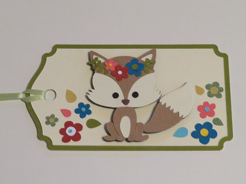 Flowery Fox Gift Tag
