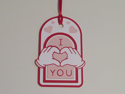 Mickey Hands I Heart You Gift Tag