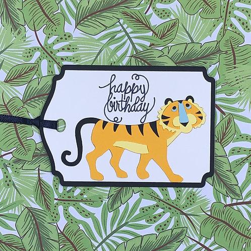 Happy Birthday Tiger Gift Tag