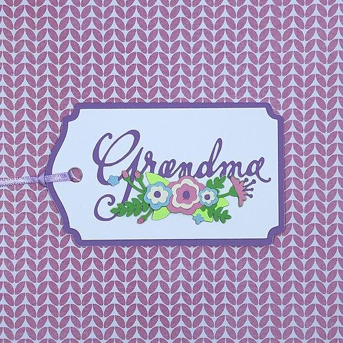 Grandma Floral Gift Tag
