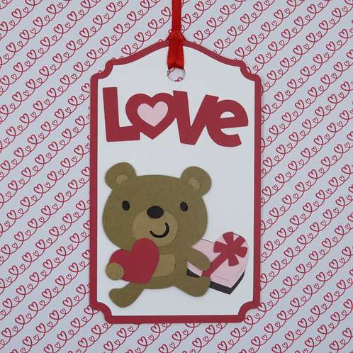 Love Teddy Bear with Candy Gift Tag