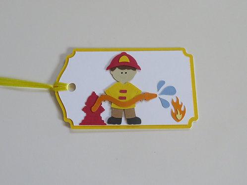 Fireman Gift Tag