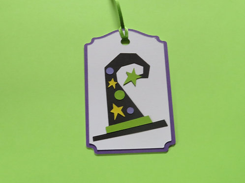 Witch Hat Halloween Gift Tag
