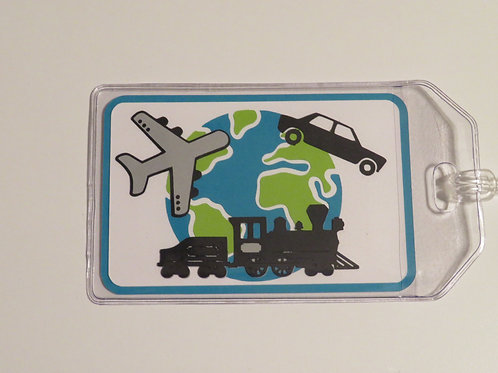 Plane, Train, or Automobile World Traveler Luggage Tag