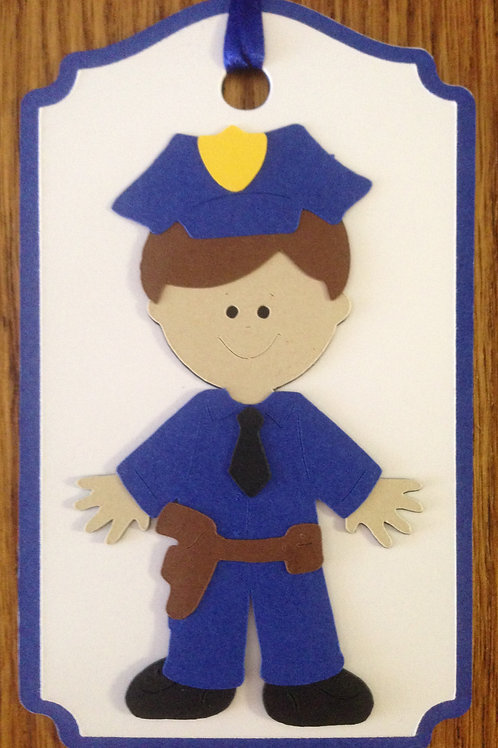 Police Officer Gift Tag