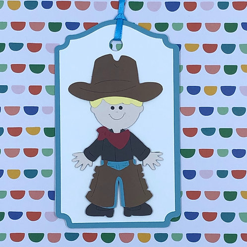 Little Cowboy Gift Tag