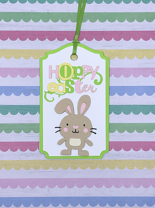 Hoppy Easter Bunny Basket or Gift Tag