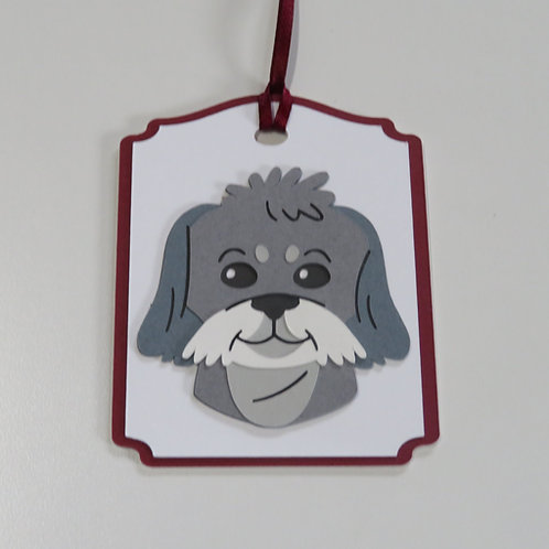 Shih Tzu Face Gift Tag