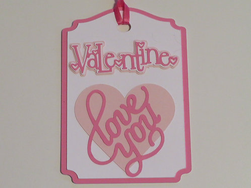 Valentine Love You Gift Tag