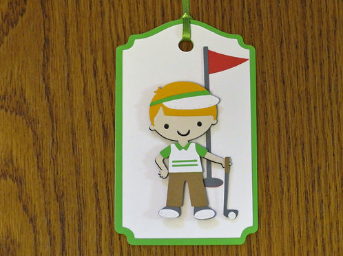 Golfer Fore! Gift Tag