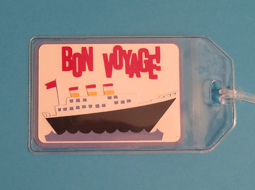 Bon Voyage Cruise Ship Vacation Luggage Tag