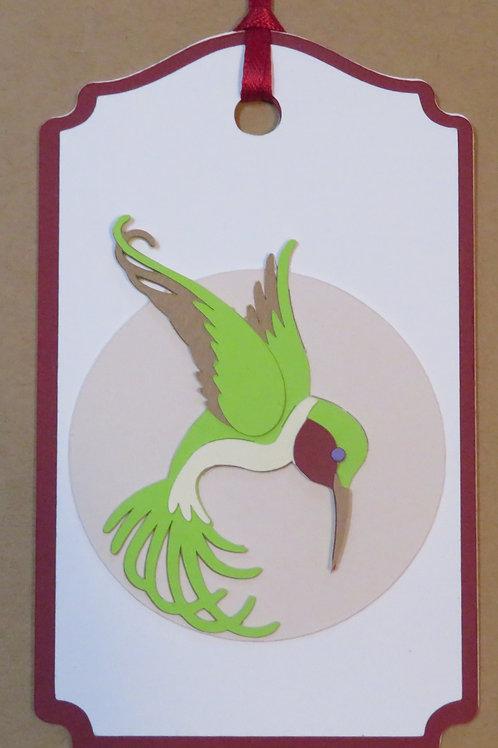 Art Nouveau Hummingbird Gift Tag