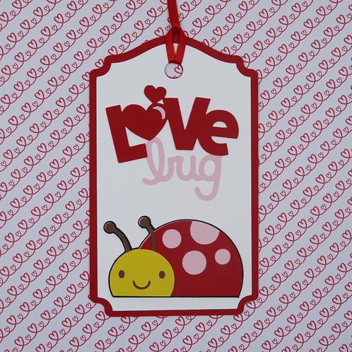 Love Bug Ladybug Gift Tag