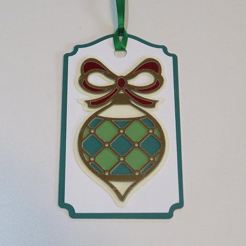Ornament Diamond Pattern Gift Tag