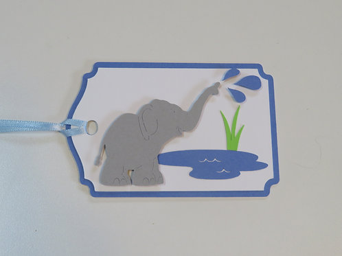 Baby Elephant Squirting Water Gift Tag