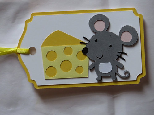 Mouse with Cheese Gift Tag