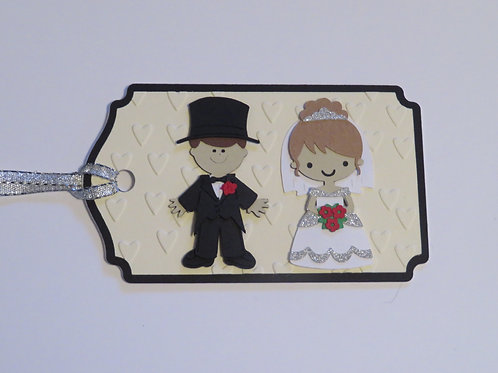Bride and Groom Wedding Gift Tag