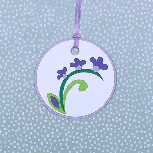 Pentstemon or Beardtongue Flowers Gift Tag