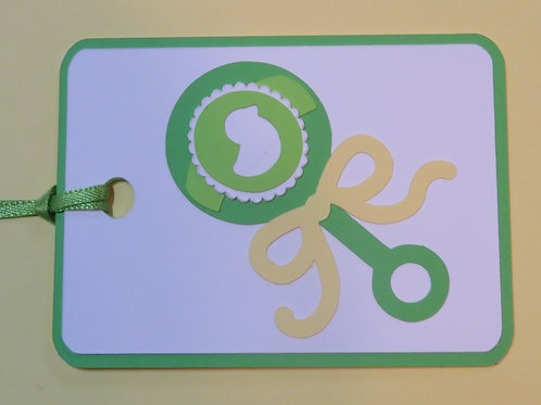 Baby Rattle Gift Tag
