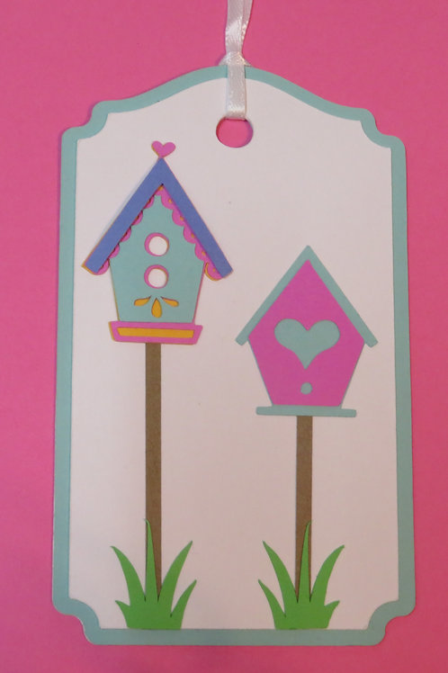 Pair of Whimsical Birdhouses