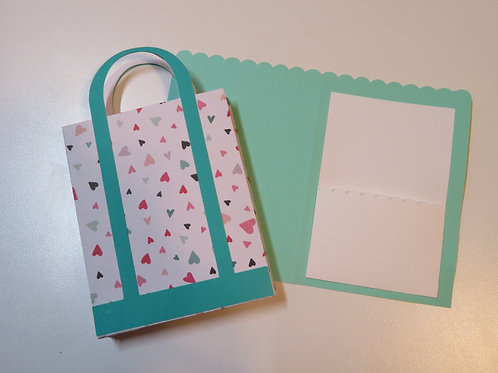 Colorful Gift Card Holder Shopping Bag Green