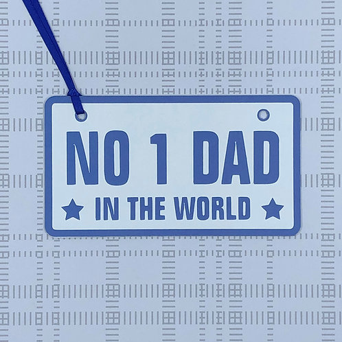 No 1 Dad In The World Gift Tag