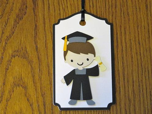 Graduation Boy Gift Tag