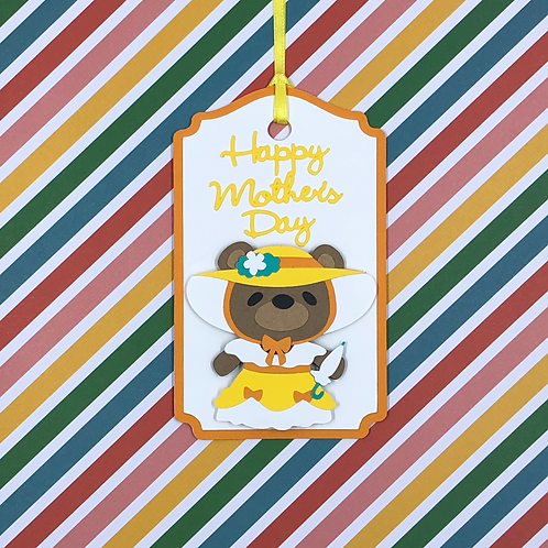 Happy Mother's Day Bear Gift Tag
