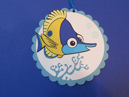 Tad from Disney's Finding Nemo Gift Tag
